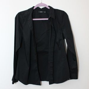 Women's Black Button Up Shirt